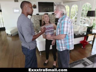 ExxxtraSmall - Petite Teen Fucks Huge Cock To Pay Debt